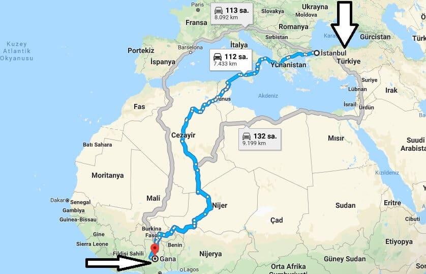 Gana'ya nasıl gidilir