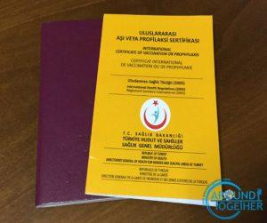sarı humma aşı kartı